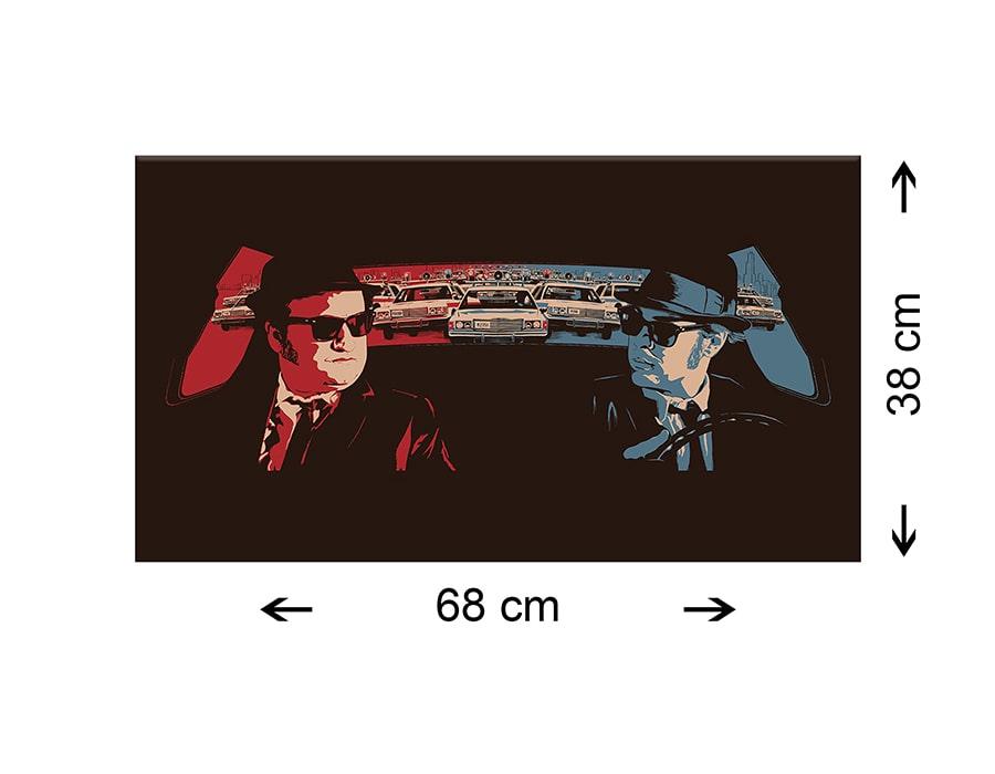 Quadro Moderno Tela Canvas - Blues Brothers 68x38 cm - Film - Cinema