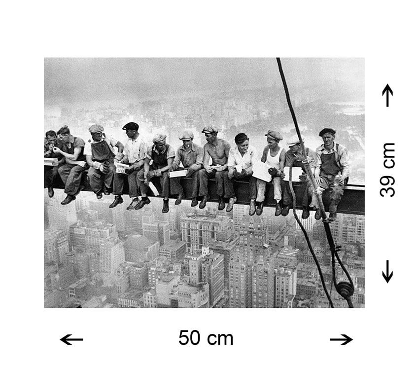 Quadro Famoso Operai New York Stampa su Tela Canvas 50x39cm