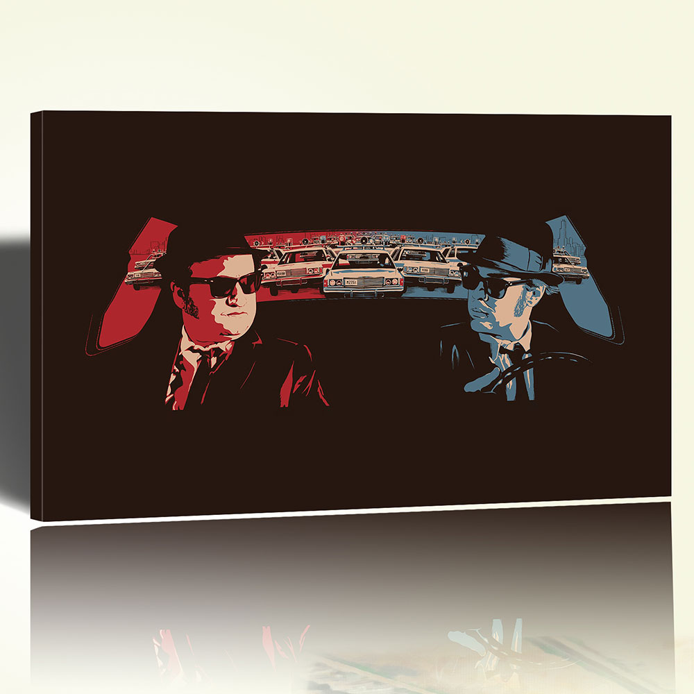 Blues Brothers Canvas Stampa su Tela