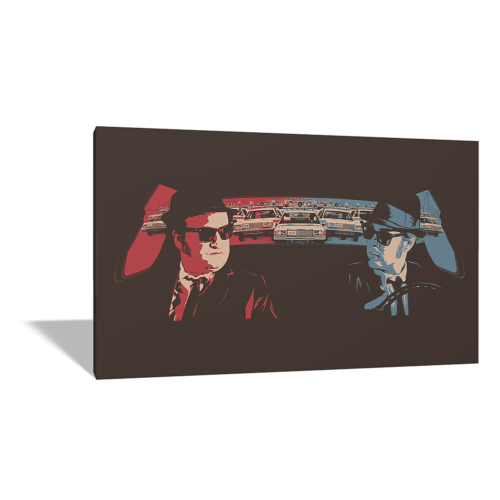 Quadro Moderno Tela Canvas - Blues Brothers 68x38 cm - Film - Cinema