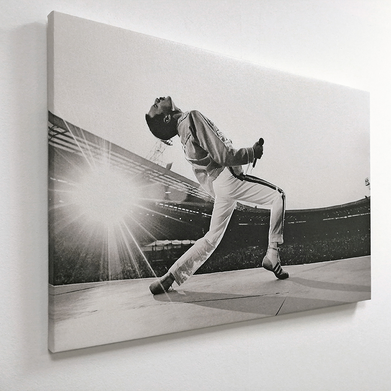 Quadro Moderno Tela Canvas Freddie Mercury Wembley 70x45cm