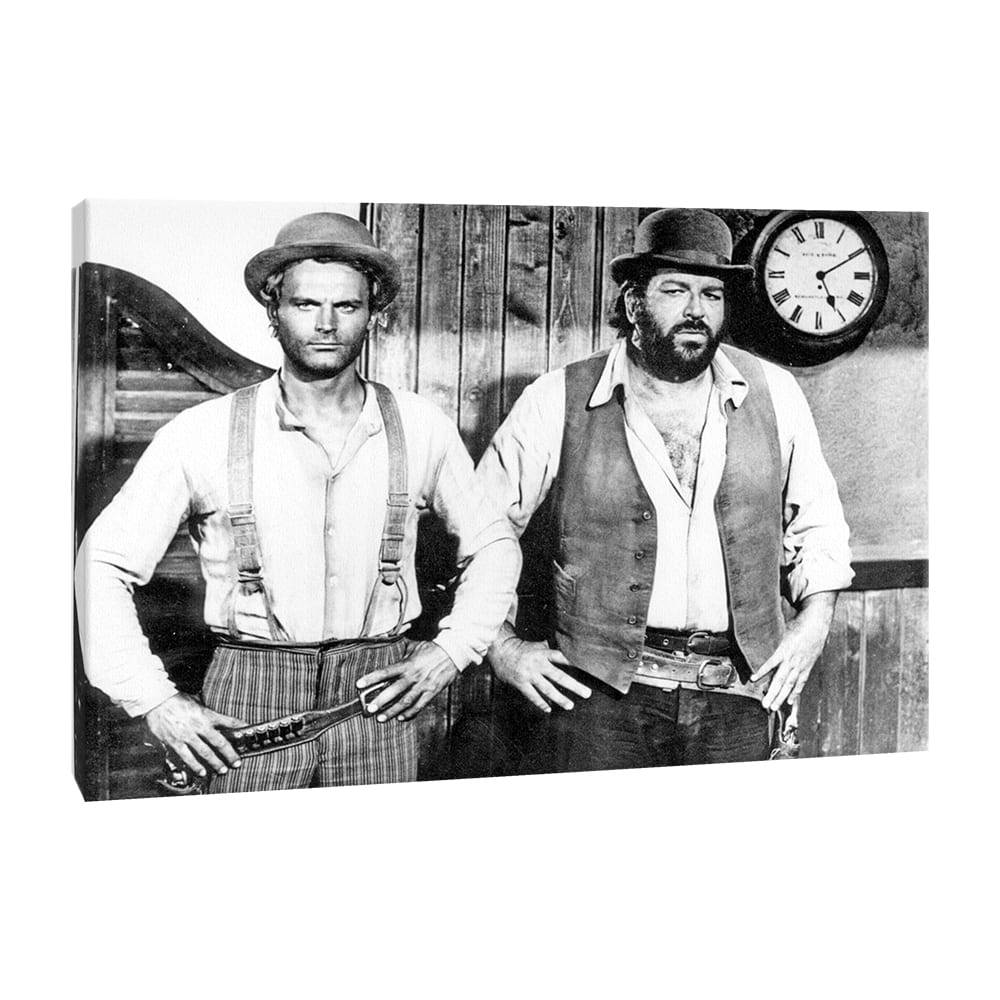 Quadro Moderno Tela Canvas Bud Spencer Terence Hill 62x45 cm
