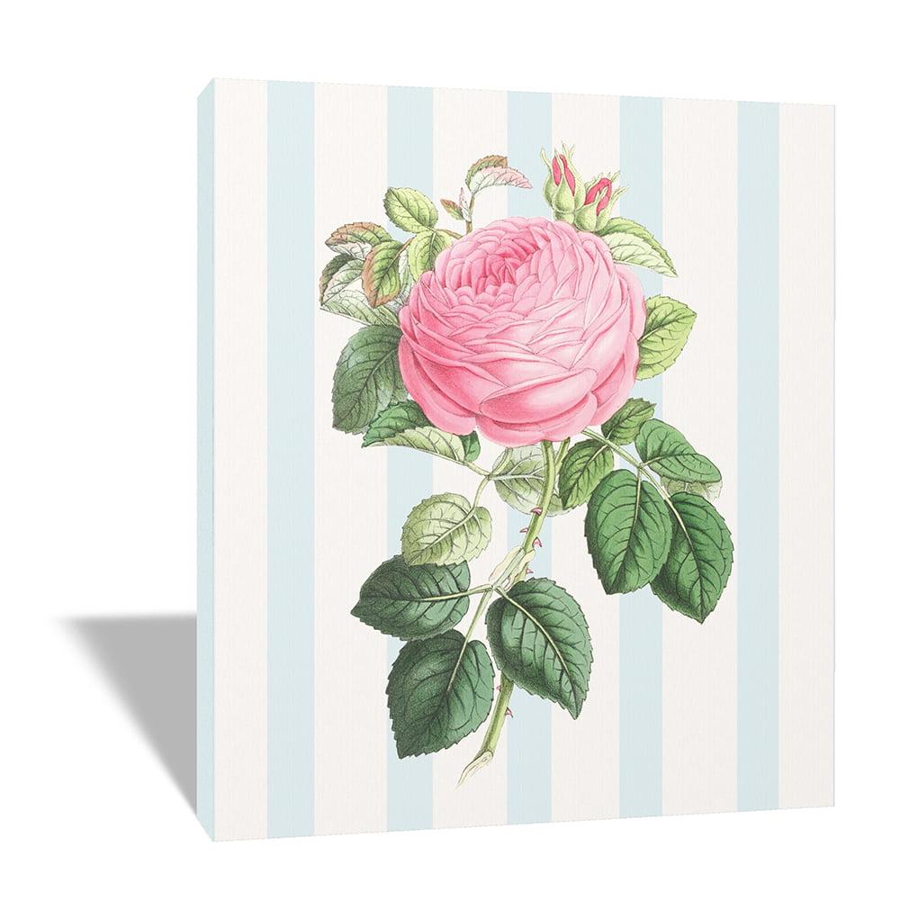 Quadro Canvas Shabby Chic Rosa 45x50 cm